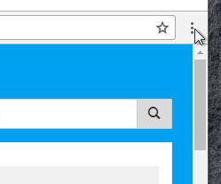 Chrome browser menu