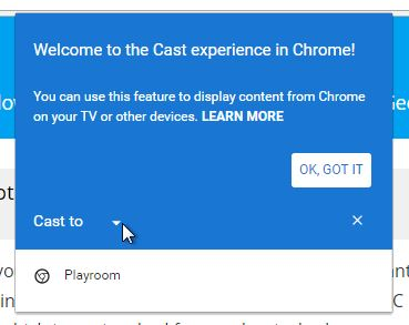 Select what you want to cast with Chromecast