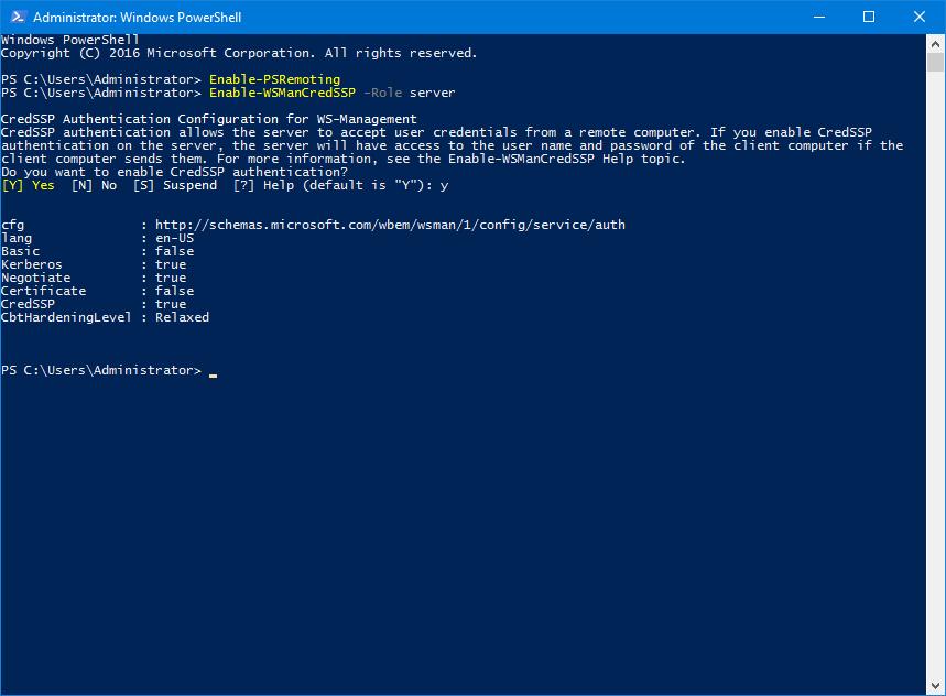 Enable remote hyper-v manager server config