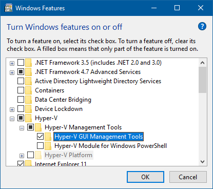 Remotely Manage a Non-Domain Hyper-V Server from Windows 10