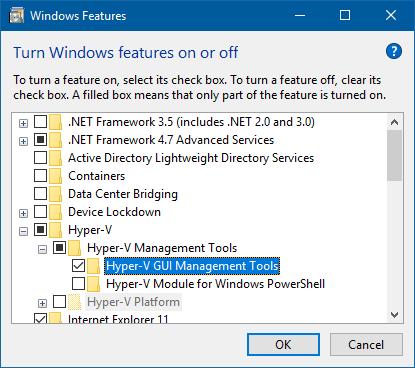 Installing hyper-v manager client