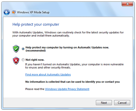 Install and Use XP Mode in Windows 7