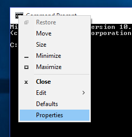 enable new command prompt features in windows 10
