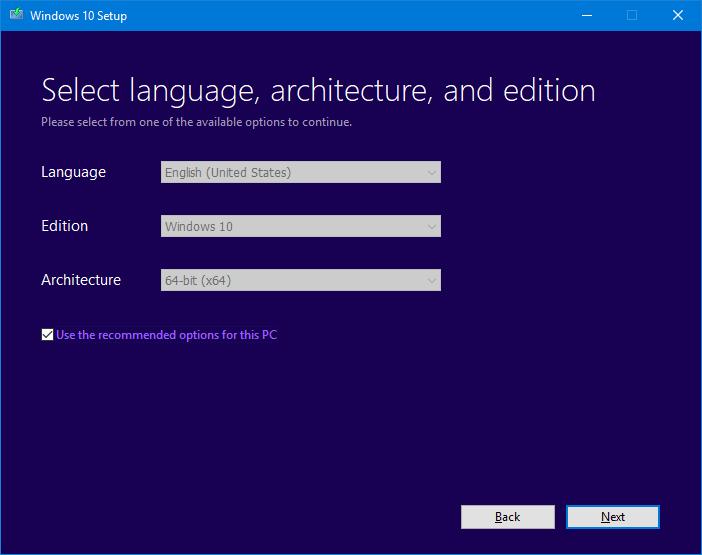 Downloading Windows 10 Creators Update ISO