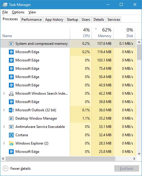 Memory Compression in Windows 10
