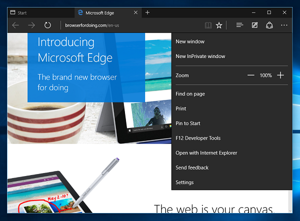 Enable Dark Mode Theme in Microsoft Edge
