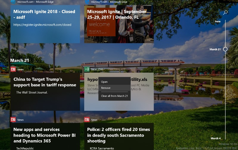 Exploring the new Activity Timeline in Windows 10