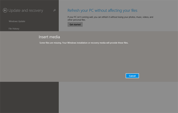 Refresh your Windows 8 PC