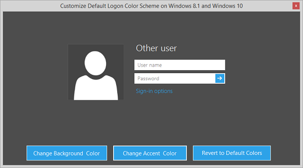 Tweaks.com Logon Changer Color Scheme Tweaker