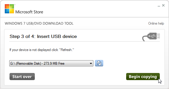 install win 10 from usb tool