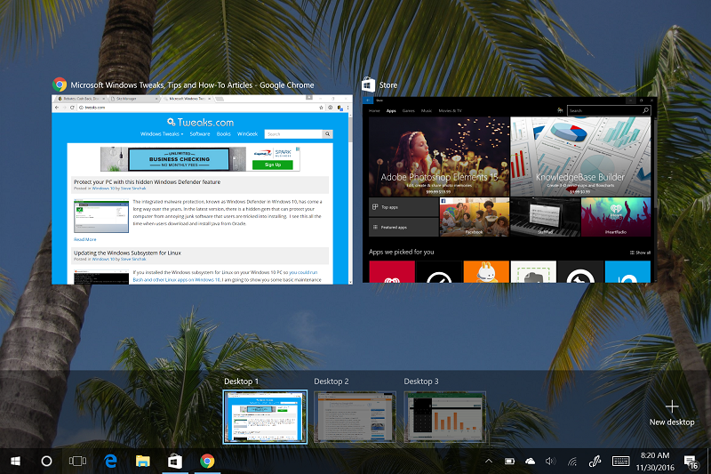Virtual Desktop View