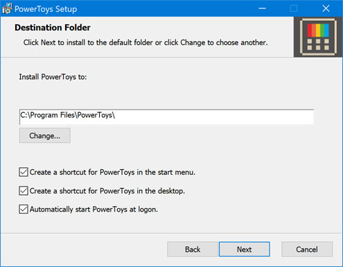 Installing Windows 10 Power Toys