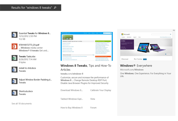 Disable integrated Bing search in Windows 8 1