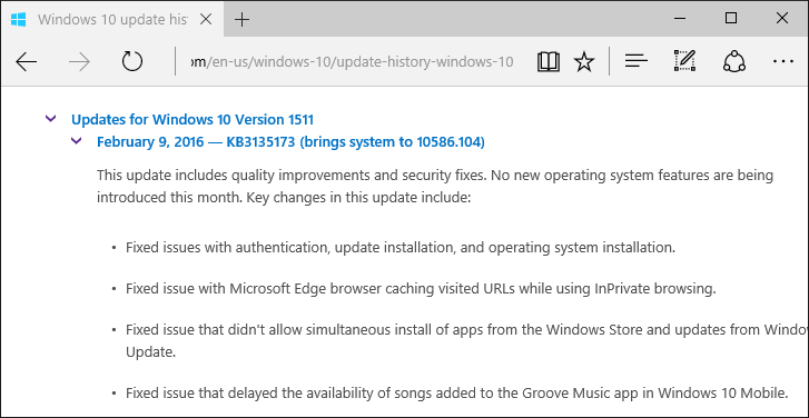 Windows 10 Release Notes
