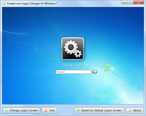 Tweaks.com Logon Changer for Windows 7